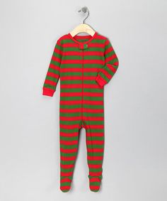 With authentic no-slip treads and bold stripes, this nightly number exemplifies the magic of childhood with French flair. Its stretchy knit fabric combines with a full-length zipper for a comfy look that pulls on easily. Size note: For your children's safety, this item is designed to fit snugly as it is not flame-resistant.
