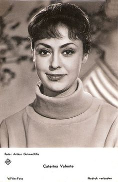 Caterina Valente (born 14 January 1931 in Paris, France) is an Italian singer, guitarist, dancer, and actress.