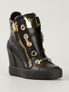 f7e2ef9040ba22 Giuseppe Zanotti Design High-top-sneakers Mit Keilabsatz - - Farfetch.com  Damen