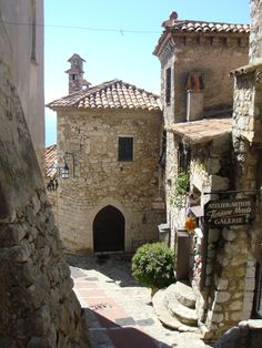 Eze ~ France...I love this little ocean/cliffside village in the South of France.