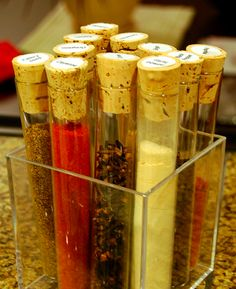 test tube spice rack - does this make me a nerd? not sorry at all.