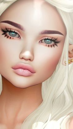 3d, art, artists, background, beautiful, beautiful girl, beauty, color, colorful, design, drawing, fashion, fashionable, girl, hair, illustration, illustration girl, inspiration, iphone, luxury, make up, makeup, pastel, pretty, wallpaper, wallpapers, we  | girl, cute and fashion