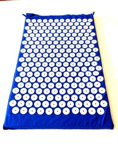Blue Acupressure Mat Yoga Mat Acupuncture Mat to Relieve Stress Tension Pain 100 Soft Cotton Fabric 6210 Acupressure Points ** Click image for more details.