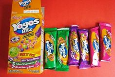 Yogos--these creamy treats were like yogurt. My fav were the mixed berry!