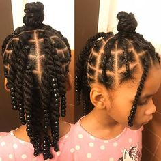 ✨This style is for the non-braiders out there.✨ This style was done on blow dried hair. Products used: Candice Cantu leave in SheaMoisture curl… Little Girls Natural Hairstyles, Black Kids Hairstyles, Cute Little Girl Hairstyles, Little Girl Braids, Baby Girl Hairstyles, Kids Braided Hairstyles, Braids For Kids, Girls Braids, Toddler Hairstyles
