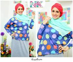 Summer coloful hijab blouses