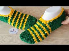Crochet beautiful booties model Crochet easy for ladies socks Crochet Slipper Pattern, Crochet Slippers, Crochet Patterns, Booties Crochet, Crochet Braid Styles, Crochet Braids, Crochet Bebe, Easy Crochet, Love Knitting