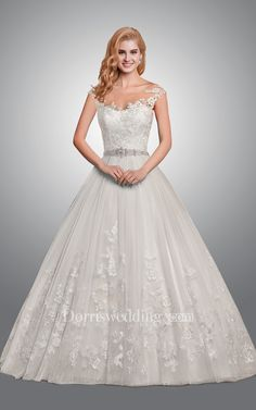 Ball Gown Lace Wedding Dress With Sexy Back ee11fa49d19a