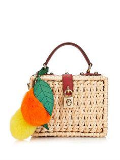 1750f5eb412c1c Dolce & Gabbana Miss Dolce raffia box shoulder bag Moda Y Complementos,  Carteras De Diseño
