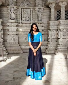 Convert Old Silk Saree Into Beautiful Gown - Kurti Blouse Saree Gown, Frock Dress, Anarkali Dress, Lehenga, Sarees, Kalamkari Dresses, Ikkat Dresses, Half Saree Designs, Saree Blouse Designs