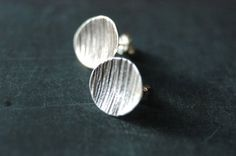 Sterling Silver Moon and Forest studs by NestedYellow on Etsy, $45.00