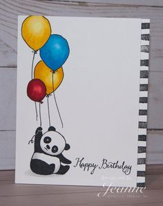 artsandcraftscollege artsandcraftsjewelry artsandcraftswindows artsandcraftsbooks artsandcraftsdoors artsandcraftsparty stampin pandas party up Stampin Up Party Pandas Stampin Up Party Pandas You can find Pandas and more on our website Creative Birthday Cards, Handmade Birthday Cards, Happy Birthday Cards, Watercolor Birthday Cards, Birthday Card Drawing, Happy Birthday Painting, Watercolor Cards, Tarjetas Diy, Karten Diy