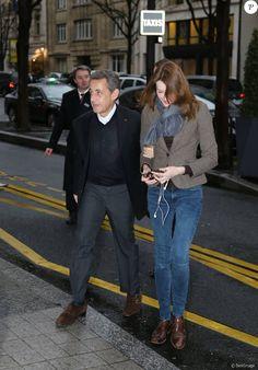 Exclusif - Nicolas Sarkozy et sa femme Carla Bruni-Sarkozy à Paris ...