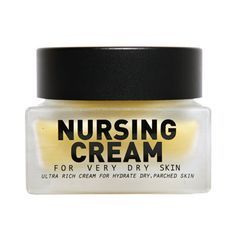 Nursing Cream in balm type. Deep in nutrition and highly moisturising. It contains argan oil, olive oil and palm tree seed butter extracted from murumuru trees grown in clean areas. #moisturising #skincare #beauty #dryskin
