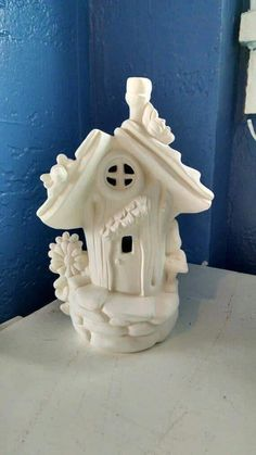 Small Cottage Elf or Fairy House and home unpainted ceramic bisque ready to paint DIY Fairy House Crafts, Clay Fairy House, Fairy Garden Houses, Polymer Clay Crafts, Diy Clay, Pottery Houses, Anniversaire Harry Potter, Clay Fairies, Clay Houses