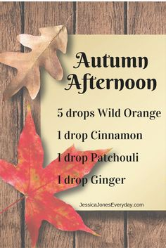 Fall diffuser blends with doterra essential oils More