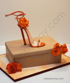 Stiletto+Shoe+and+Box+Birthday+Cake+-+Cake+by+Cakes+by+Maylene