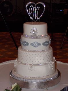 Wedding Cake with a touch of Bling