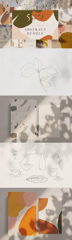 Modern Abstract Artistic Bundle by Laras Wonderland on @creativemarket