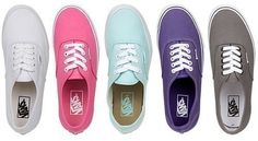 One in every color for the summer  Vans Outlet Manteca CA. - For more information on this or other products from the Promenade Shops At Orchard Valley join us on Facebook at Promenade Shops At Orchard Valley or on our website at www.thepromenadeshopsatorchardvalley.com