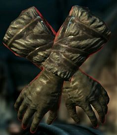 Gloves of the Pugilist  BASE ARMOR:5Weight:2BASE VALUE:194Additional Effects: Unarmed strikesdo 10 additionaldamage Class:Light Armor,Gauntlets Upgrade Material:Leather