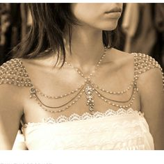 Incredible jewelry piece that goes on shoulders