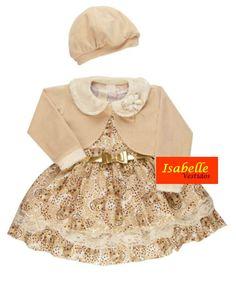 Vestido Infantil Essencia Bege com Bolero - Tam 1 / 4 <br> <br>TAMANHOS===> 1 / 2 / 3 e 4 <br> <br>* Vestido infantil <br>*Excelente acabamento <br>*Tecido 75% algodão e 25% Poliester <br>* Após a compra informar o tamanho desejado <br> <br>TABELA APROXIMADA DE MEDIDAS <br> <br>Tam 1: Cintura 52 cm---Busto 53 cm---Comprimento 54 cm <br>Tam 2: Cintura 54 cm---Busto 55 cm---Comprimento 60 cm <br>Tam 3: Cintura 56 cm---Busto 57 cm---Comprimento 63 cm <br>Tam 4: Cintura 58 cm---Busto 59…