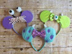 Inc Ears - Choose from Sully mouse ears, Boo Mickey ears, Mike Wazowaki ears or 2319 Ears (George Sanderson)- Perfect Disney ears Monster's Inc.Monster's Inc. Disney Ears Headband, Diy Disney Ears, Disney Headbands, Disney Mickey Ears, Disney Diy, Disney Crafts, Disney Pixar, Monsters Inc Baby Shower, Monsters Inc Boo