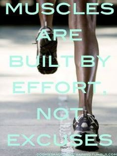 Effort=success Don't ever think differently.  https://www.facebook.com/pages/Kiana-Hanna-Fitness-Living-the-Life-of-Insanity/265966823444890