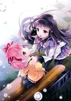 akemi_homura cotoji kaname_madoka puella_magi_madoka_magica seifuku