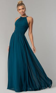 Elizabeth K dress, Navy Elizabeth K dresses Navy Blue Prom Dress Long Prom Dress Prom Dresses Prom Dress Chiffon High Neck Prom Dress Prom Dresses Long Prom Dresses Under 200, Navy Blue Prom Dresses, Pretty Dresses, High Neck Bridesmaid Dresses, Long Dresses, Chiffon Evening Dresses, Formal Evening Dresses, Evening Gowns, Formal Prom