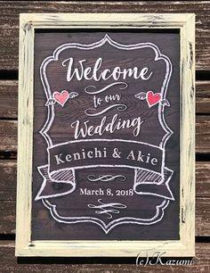 Framed  Rustic Wood Wedding Sign Print  A4 Shabby-chic