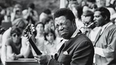 """B.B. King King onstage at New York's Central Park on June 13th, 1969. It was the same month """"The Thrill Is Gone"""" landed in record shops. It would become his signature song."""