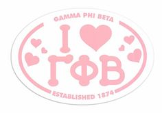 #greekgear.com            #love                     #Gamma #Beta #Love #Sorority #Sticker #Oval         Gamma Phi Beta I Love Sorority Sticker - Oval                                 http://www.seapai.com/product.aspx?PID=1231009