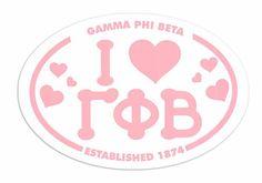 #greekgear.com            #love                     #Gamma #Beta #Love #Sorority #Sticker #Oval         Gamma Phi Beta I Love Sorority Sticker - Oval                                 http://www.seapai.com/product.aspx?PID=1231009
