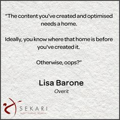 Quote of the week: Your content needs a home!  #Sekari #Quote #SEO #ContentMarketing