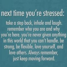 stressing is not good for the body and it is not good for your health most people stress over jus cuz someone said somethin bout 'em on facebook girls these days jus need 2 get 'em a life and stop talkin bout girls on facebook and say it 2 there face jus like i would i will say it 2 yo face.