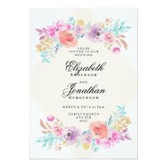 This would be great with different colors free pdf wedding pastel watercolor flowers wedding invitation stopboris Choice Image