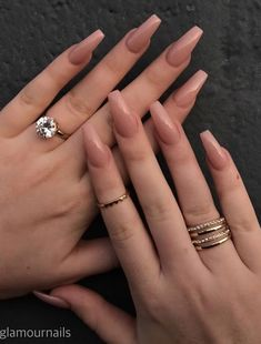 simple prom nails french tips . simple prom nails natural looks . Classy Acrylic Nails, Natural Acrylic Nails, Acrylic Nails Coffin Short, Best Acrylic Nails, Stylish Nails, Trendy Nails, Glam Nails, Matte Nails, Chic Nails