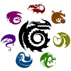 Known Dragons in the HTTYD World.
