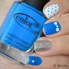 Love this nail look! Get in the MYX with Nicki Minaj at MYXFusions.com and find out why we have the #1 bottle in blue.