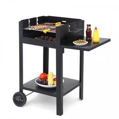 Charcoal BBQ Grill Black Garden Outdoor Barbecue Patio Barbeque Cooking Portable #CharcoalBBQGrill