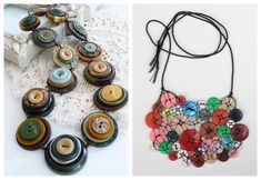 Reuse old buttons to make beautiful decorative pieces