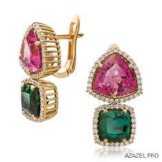 Серьги с Турмалином Earrings with Tourmaline  #earrings #арт #art #алмаз #tourmaline #серьги #красота #кольцо #мода #diamond #fashion #woman #бусы #style #jewelry #bijouterie #турмалин #женский #gemstone #exclusive #russia #украшения #эксклюзив #бижутерия #ювелир #top #cool #best #бриллиант
