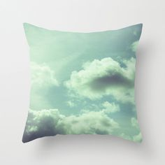 Items similar to Throw Pillow Cover - Far Away - inch Photography SpunPolyester sky clouds light sunlight sun blue turquoise vintage on Etsy Throw Pillow Covers, Throw Pillows, Cloud Lights, Sky And Clouds, Pillow Talk, Place Settings, Far Away, Sofa, Bright