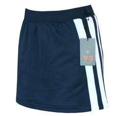 Y-3 YOHJI YAMAMOTO x ADIDAS dark blue sporty stripe Y3 tennis mini skirt M NEW #Y3byYohjiYamamoto #MiniSkirt #Y3