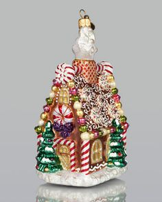 Gingerbread House Christmas Ornament by Jay Strongwater at Neiman Marcus.