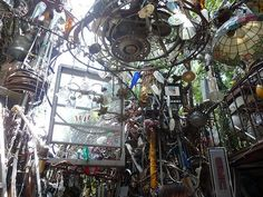 You have to see it to believe the Cathedral of Junk. It started as a small art project in a man's backyard and is now a giant structure of old skis, bike wheels, CDs and more.