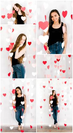 Valentine's Day Styled Photoshoot with Heart Streamers - Valentine's Day Styled Photoshoot with Heart Streamers - day photoshoot kids backdrop Valentine Backdrop, Valentine Theme, Saint Valentine, Valentines Day Decorations, Valentines Hearts, Valentines Day Memes, Valentines Day Pictures, Valentines Day Party, Valentinstag Party