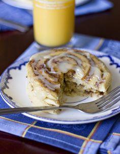 Cinnamon Bun Pancakes. A sweet start to the morning - Foodista.com